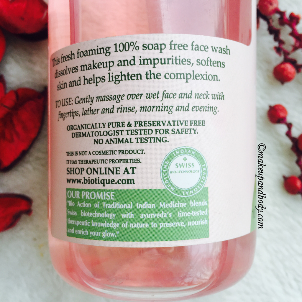 Biotique White- Whitening and Brightening Face Wash Review