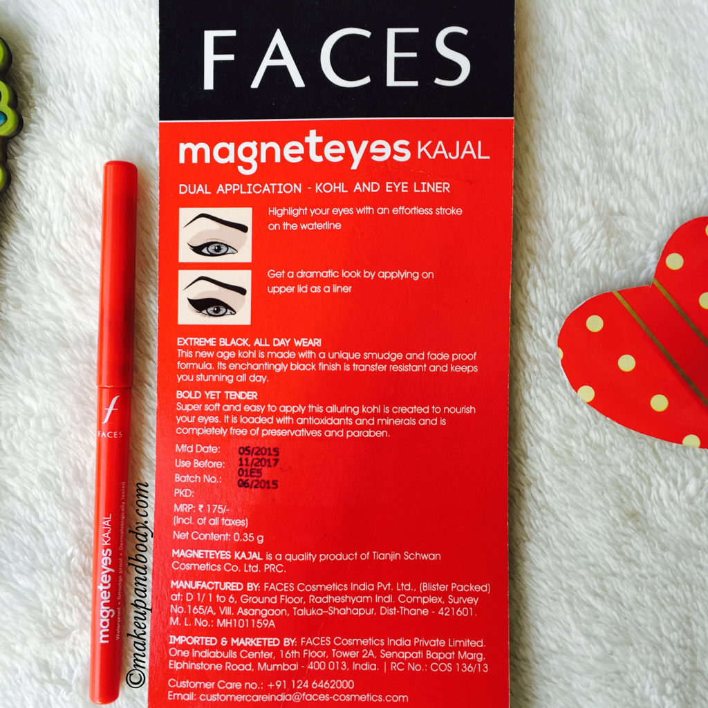 Faces Magneteyes Kajal Review and Swatches