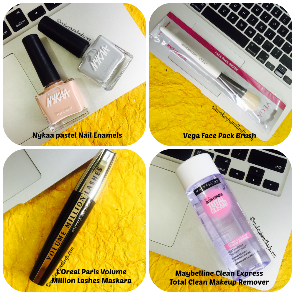 Nykaa Shopping Haul Collage 2