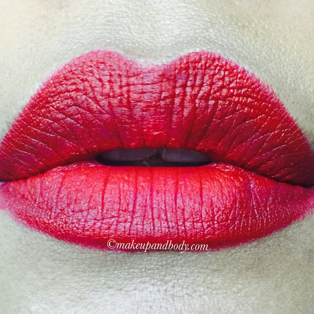 Sugar Cosmetics Matte As Hell Lip Crayon Scarlett O'HaraReview snd Swatches