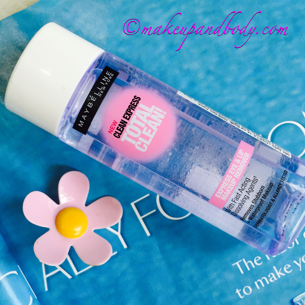 Maybelline Clean Express Total Clean Eye & Lip Makeup Remover Review