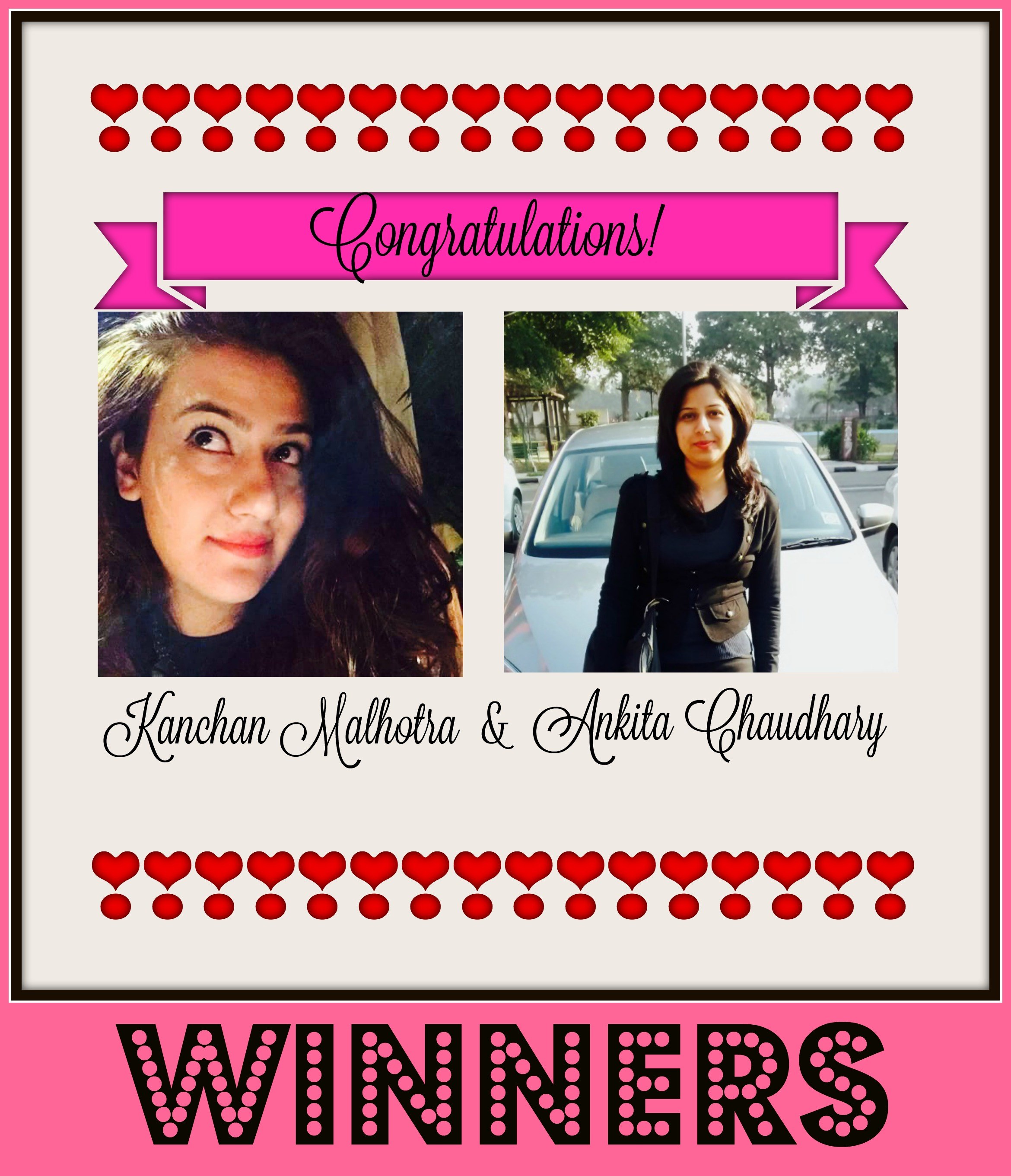 The Winners of My 6 Months Blog Anniversary Giveaway Contest