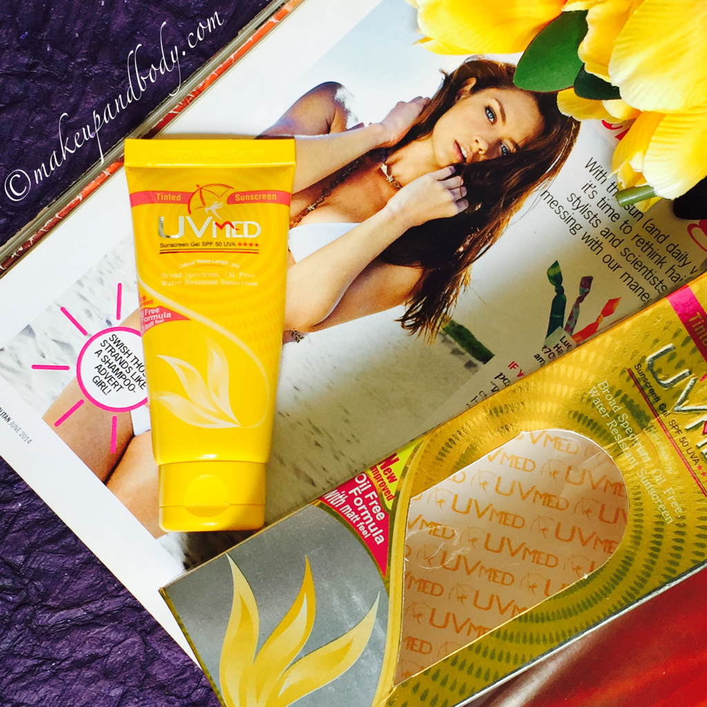 Review on UVMED Tinted Sunscreen Gel SPF 50 UVA by Ethicare Remedies