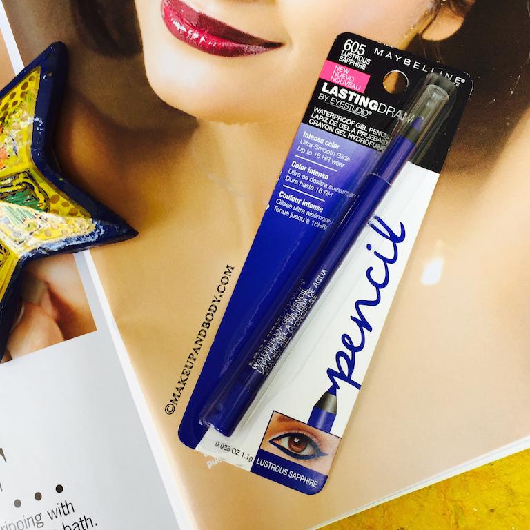 Maybelline Eyestudio Lasting Drama Waterproof Gel Pencil in Lustrous Sapphire