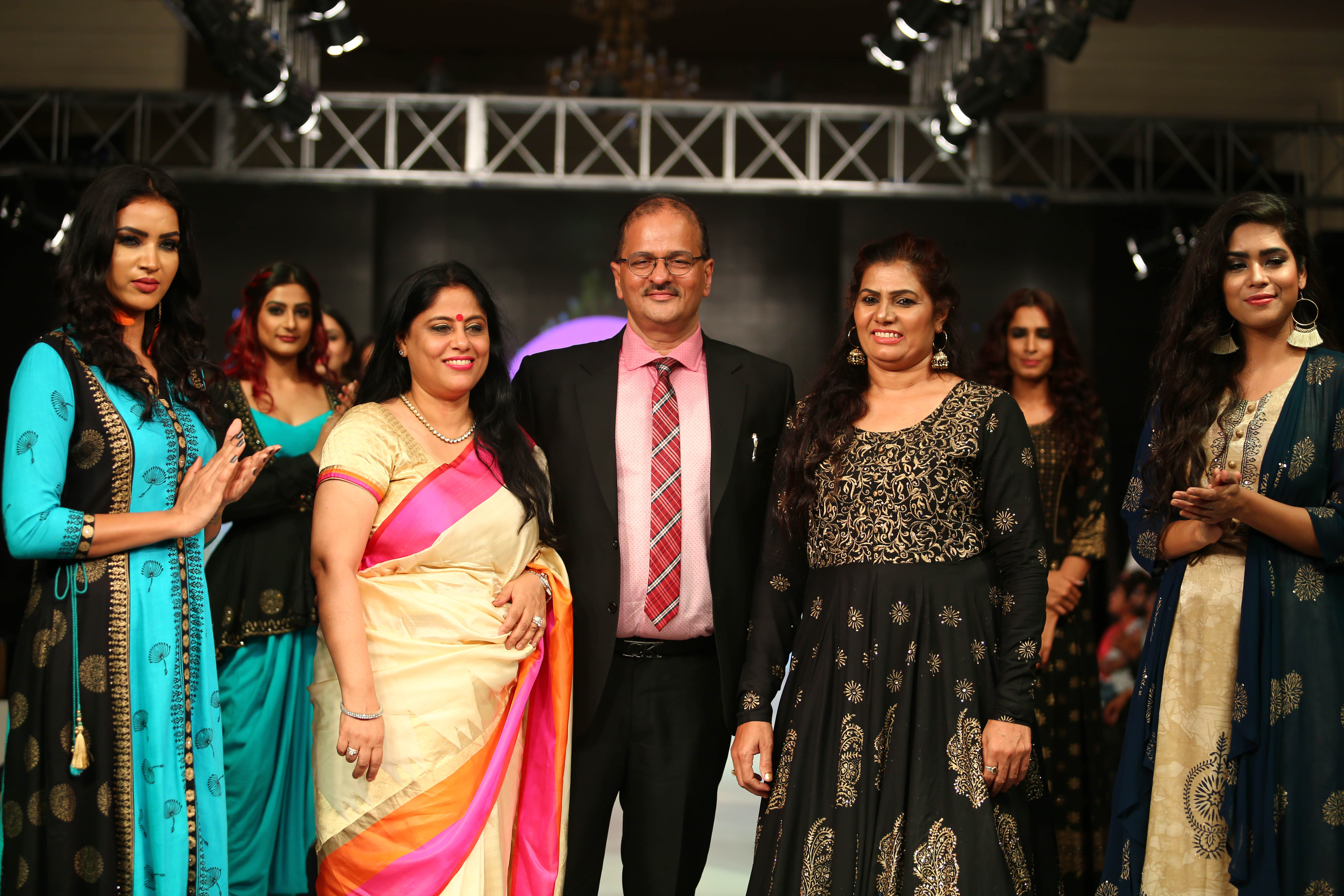 Show stopper Sunil Dabas with Sheetal and Sandeep Kapoor