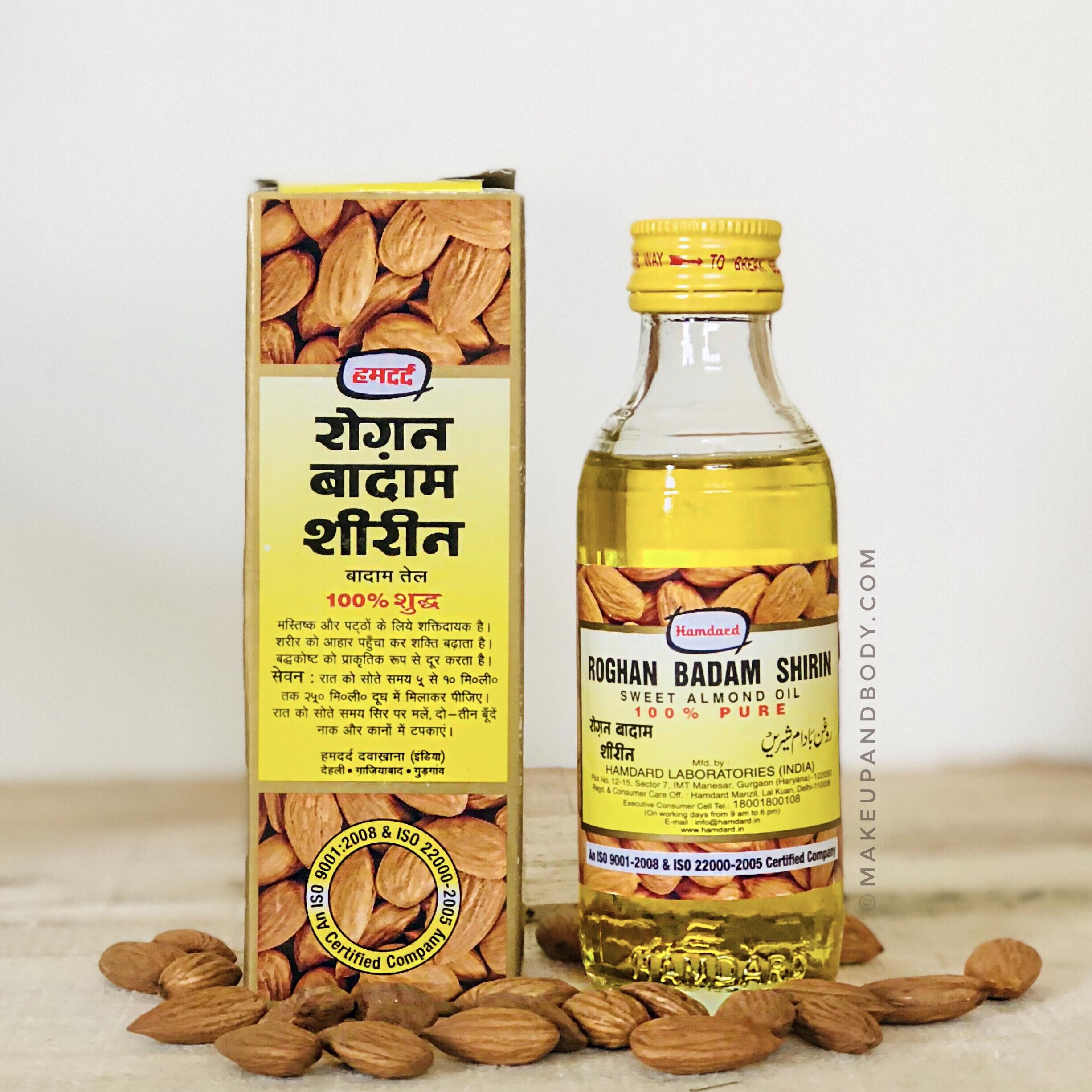 Hamdard Roghan Badam Shirin Sweet Almond Oil - Review, Benefits and Uses