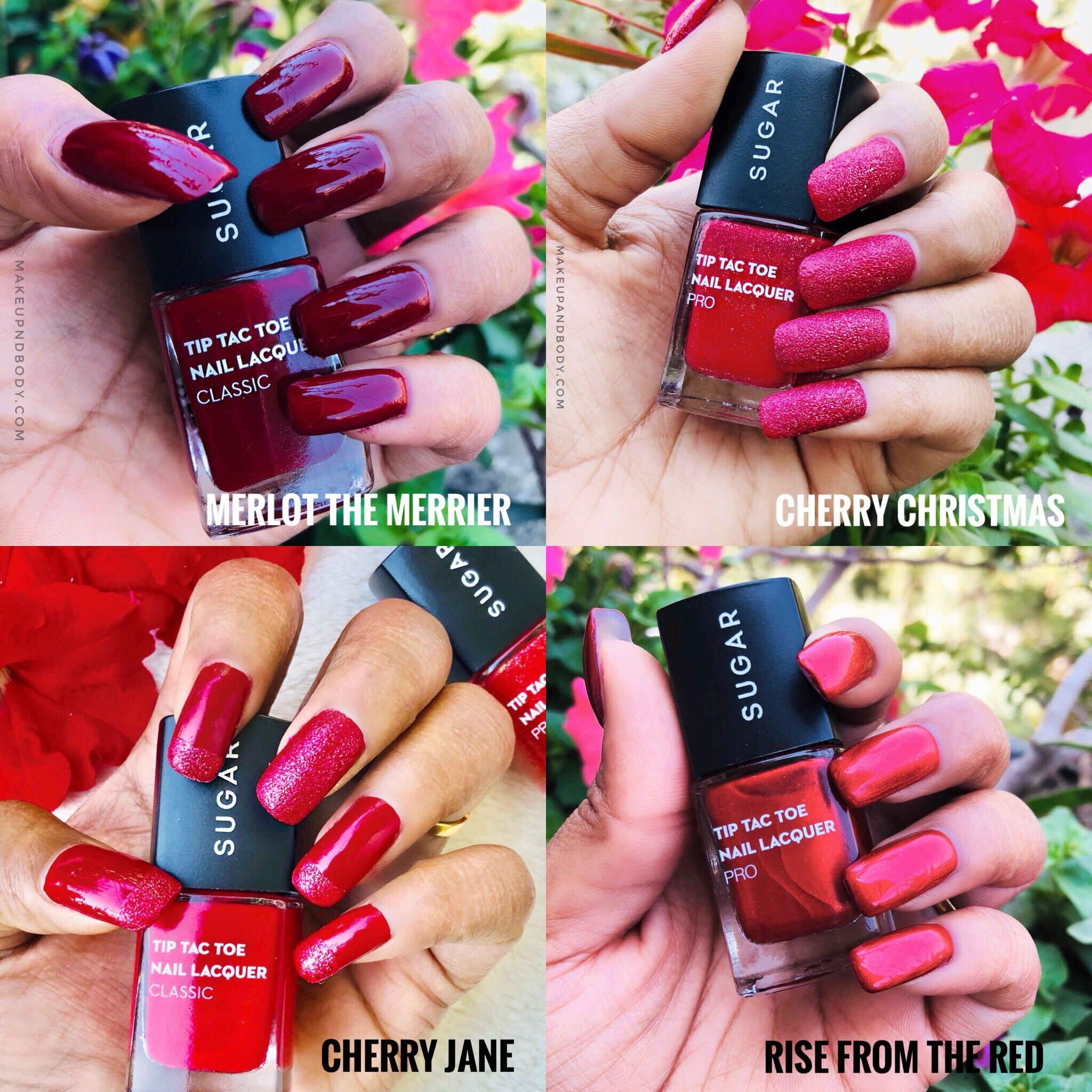 SUGAR Tip Tac Toe Nail Lacquer RED ALERT Collection Review & Swatches