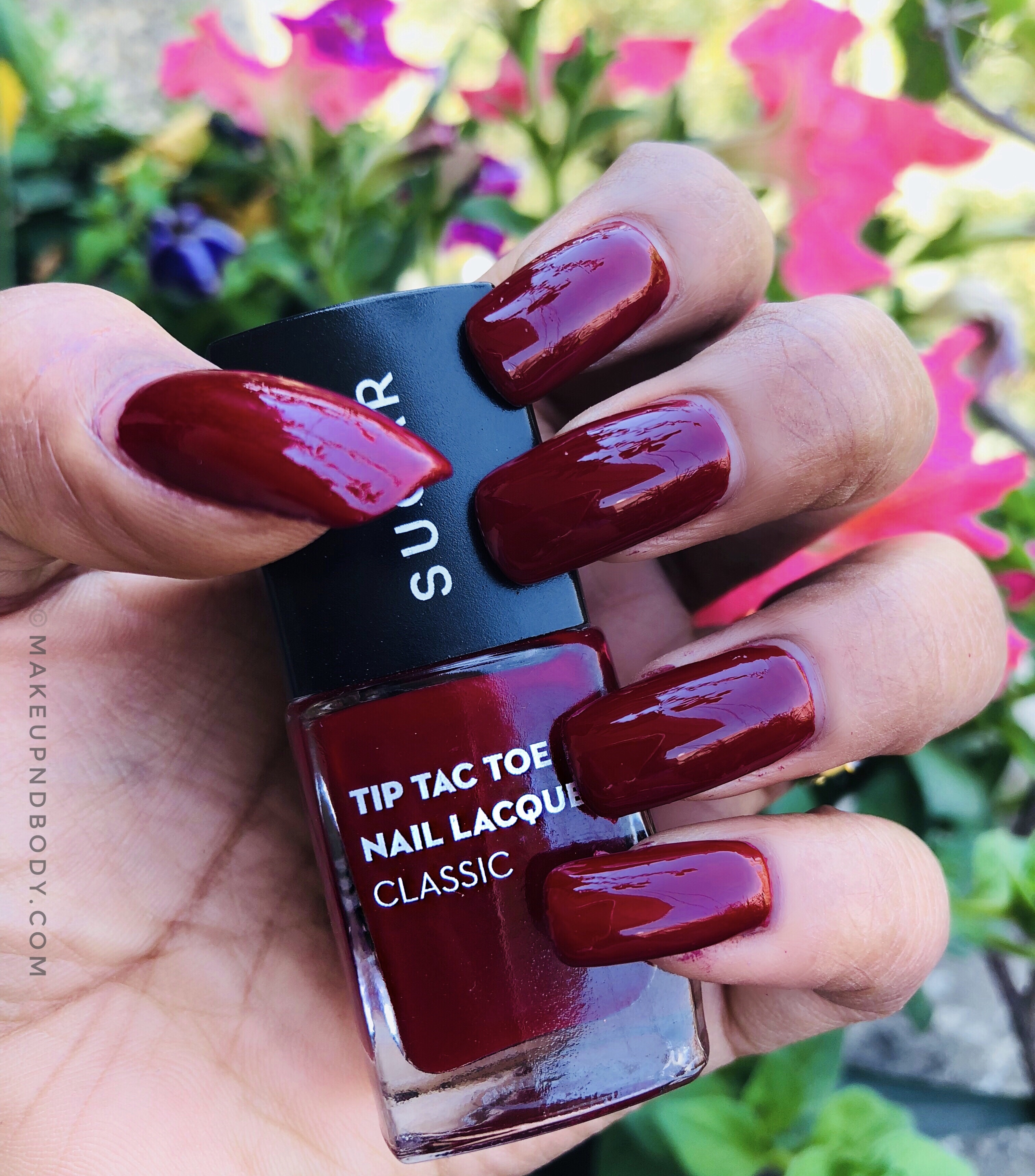SUGAR Tip Tac Toe Nail Lacquer 59 Merlot The Merrier Swatch