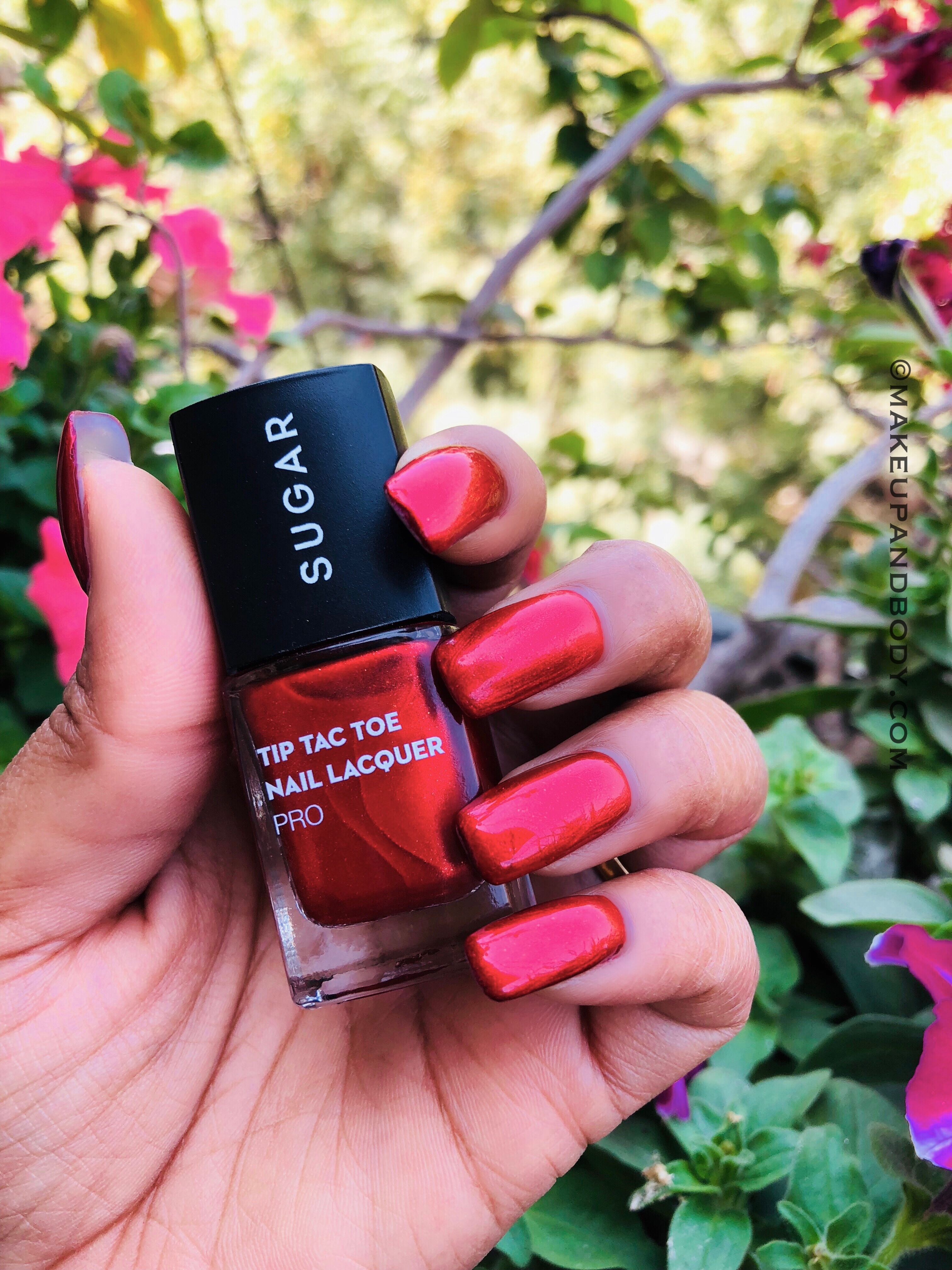 SUGAR Tip Tac Toe Nail Lacquer 61 Rise From The Red Swatch