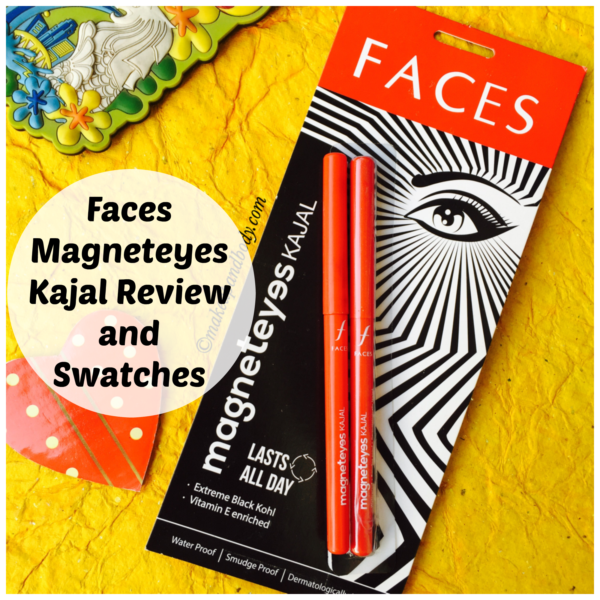 Faces Canada Magneteyes Kajal Review and Swatches