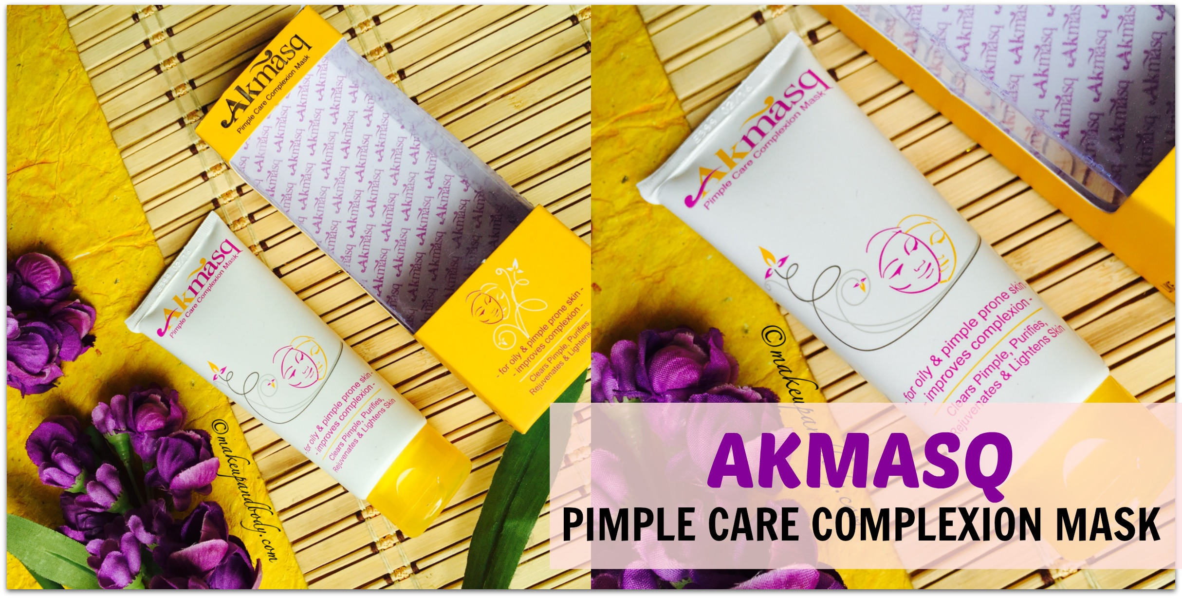 Akmasq Pimple Care Complexion Mask Review Makeup And
