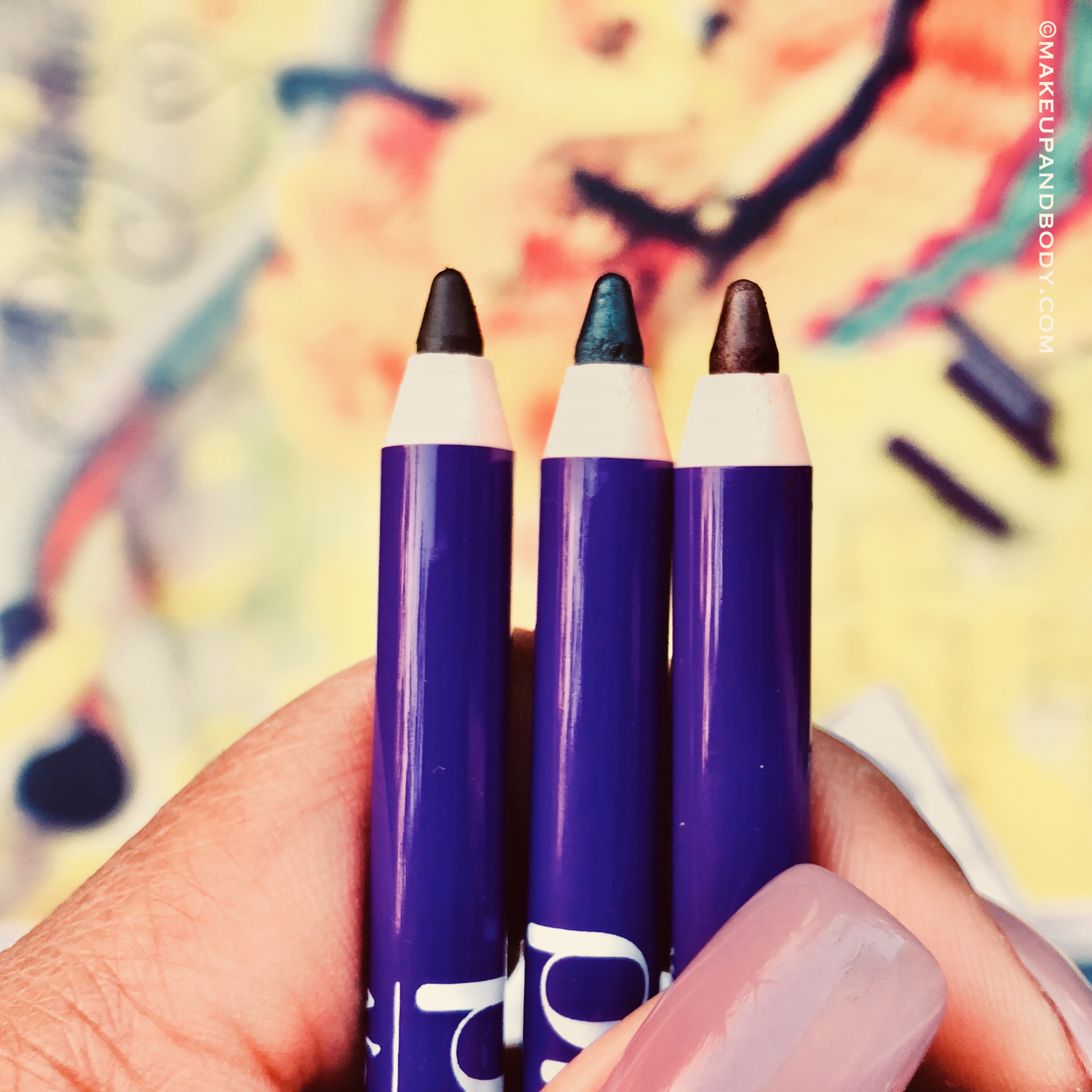 Plum NaturStudio All-Day-Wear Kohl Kajal- Uptown Brown & Gemstone Green-Review and Swatches
