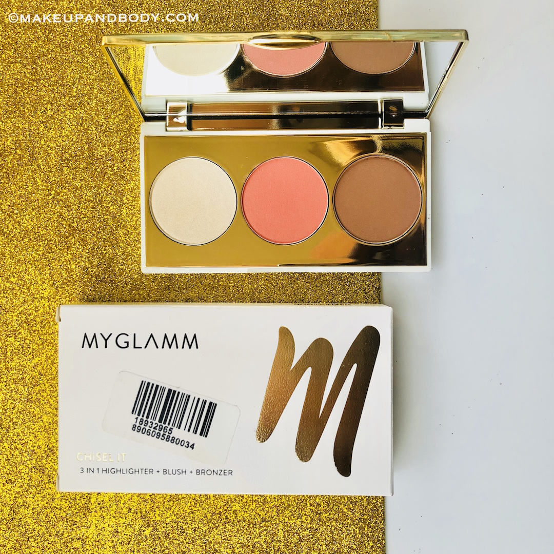MYGLAMM Chisel It 3 in 1 palette in Show Stopper Review and Swatches