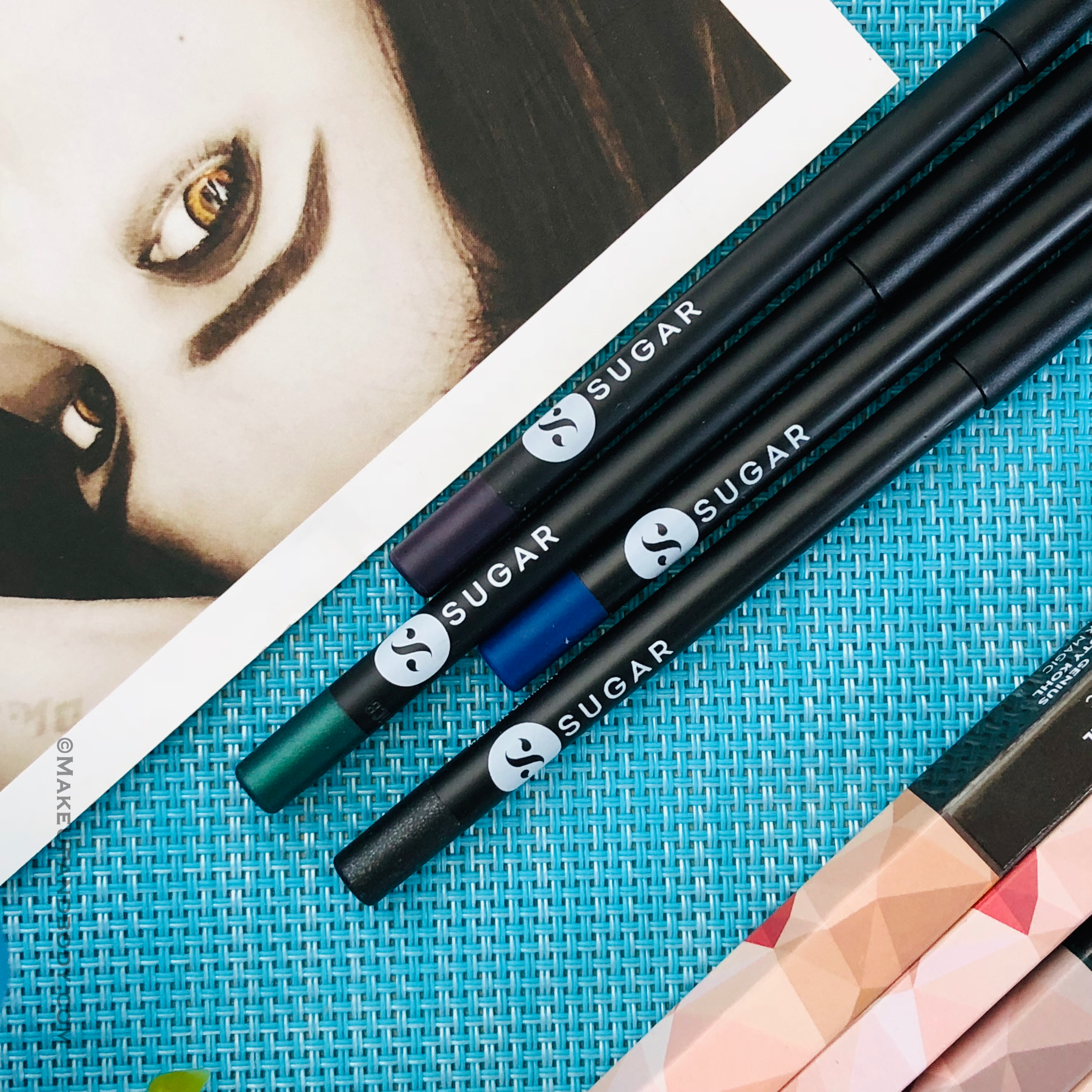 SUGAR Stroke of Genius Heavy-Duty Kohl- Review And Swatches For 4 New Shades