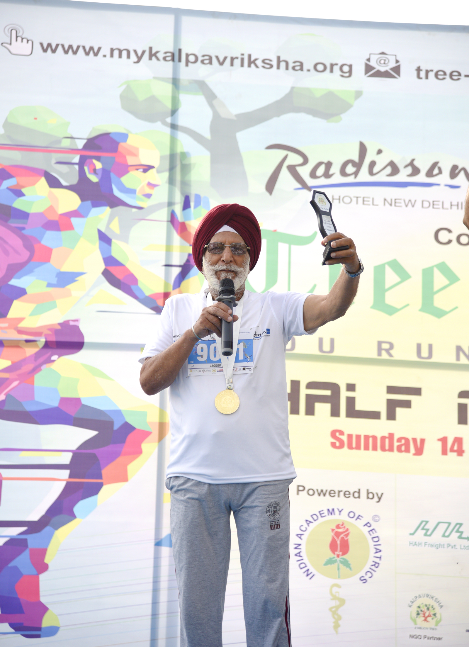 81 Year Old Man participated in Marathon-